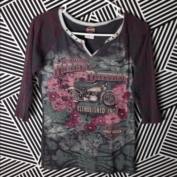6c956080948a60 Harley-Davidson Tops - Harley Davidson All over Print Motorcycle Shirt